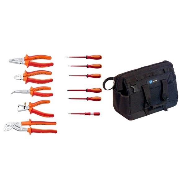 Set 11 izolovanih VDE UNIOR alata u torbi za alat CARRY