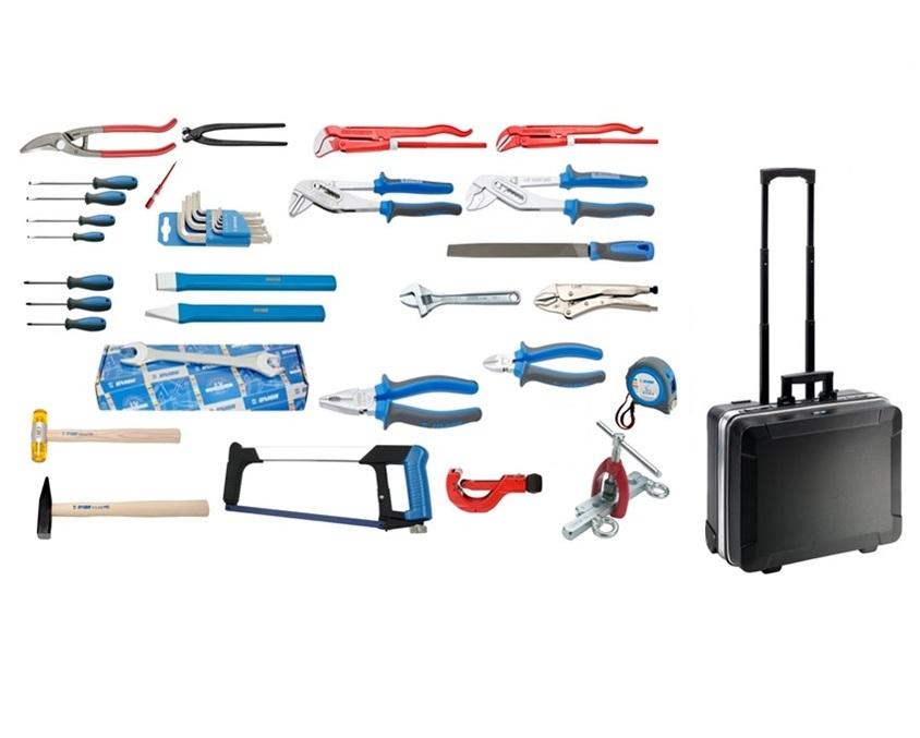 Komplet 48 UNIOR vodoinstalaterskog alata u koferu GO