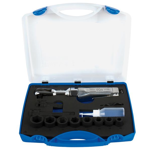 Čegrtaljka pneumatska 1/2 sa nasadnim ključevima, u plastičnoj kutiji