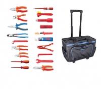 Set 47 VDE alata u torbi za alat sa teleskopskom drškom i točkićima