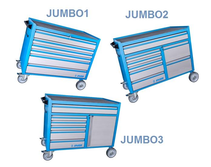 Ekstremno velika i funkcionalno unapređena UNIOR kolica za alat